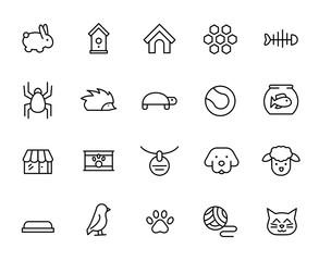 Premium set of pet line icons