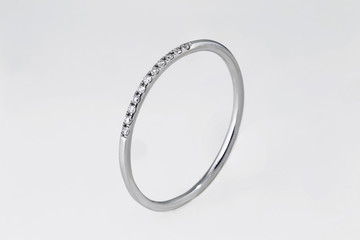 diamond ring, engagement band