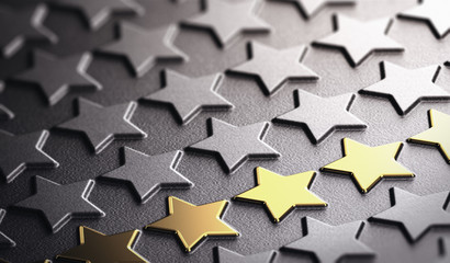 Golden Stars Background Symbol of Business Excellence