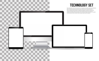 Realistic Monitors laptop tablet and phone
