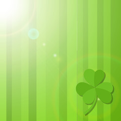 Shamrock Leaf Patrick�s Day Background
