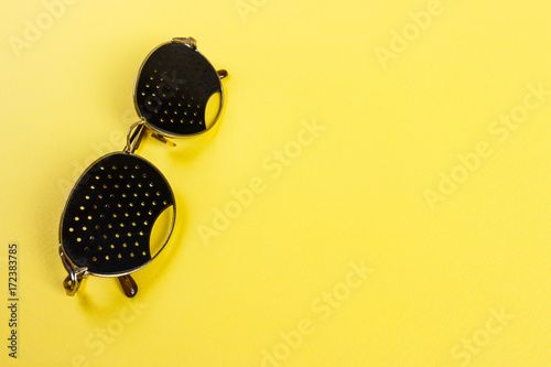 Pinhole Glasses On An Children Eye Chart Stock Photo And Royalty