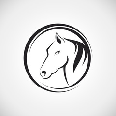 Company logo with horse head modern line vector illustration