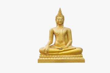 Buddha statue on white background, Visakha Puja Day