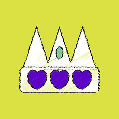 flat shading style icon crown silhouette