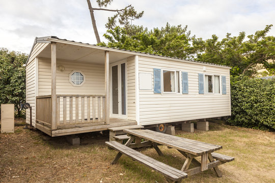 Mobile home on a camping