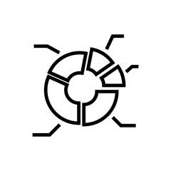 Premium graph icon or logo in line style.