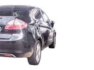 car crash damage accident isolated on white