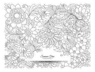 Banner, poster, invitation background with abstract decorative s