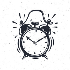Hand drawn vector illustration of the alarm clock