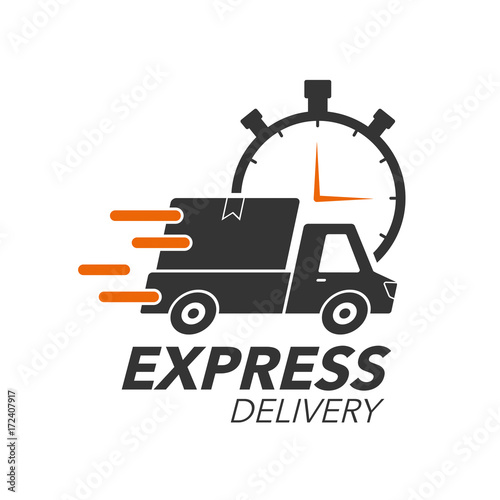 Express Delivery Icon Concept Pickup With Stop Watch Icon