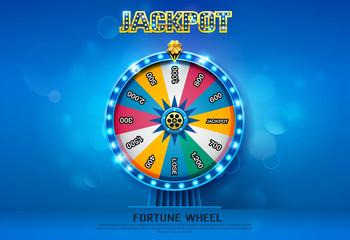 fortune wheel spinning  on bokeh background Fototapete