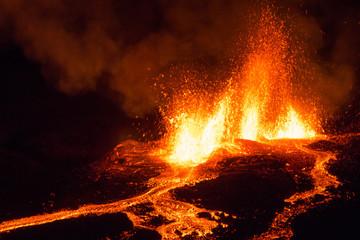 Eruption Volcan Piton de La Fournaise