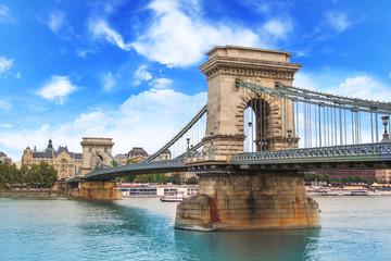 Keuken foto achterwand Boedapest Beautiful view of the Chain Bridge over the Danube in Budapest, Hungary
