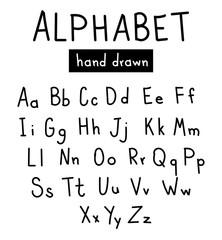 Hand drawn fonts. Handwritten alphabe style modern calligraphy