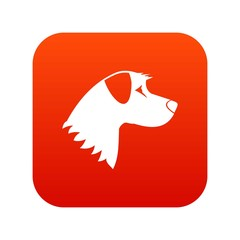 Dog icon digital red
