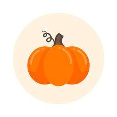 cartoon cute pumpkin icon