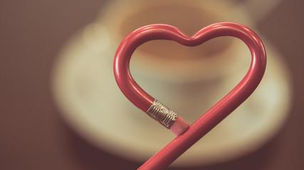 Heart Shaped Pencil