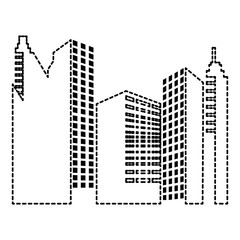 buildings cityscape isolated icon