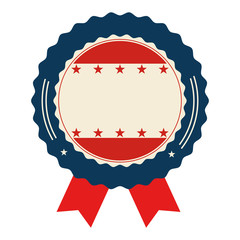 united states of america seal with ribbon