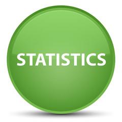 Statistics special soft green round button