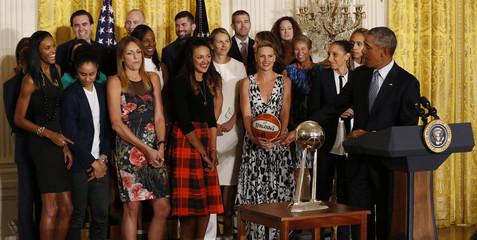WNBA: Phoenix Mercury-White House Visit