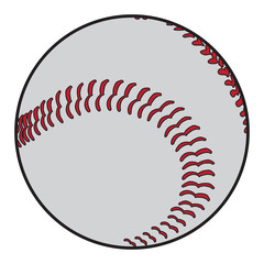 Isolated baseball ball on a white background, Vector illustration