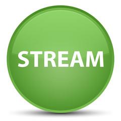 Stream special soft green round button
