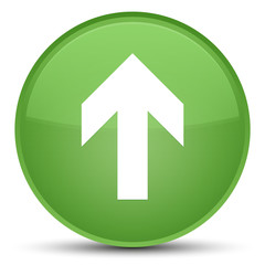 Upload arrow icon special soft green round button
