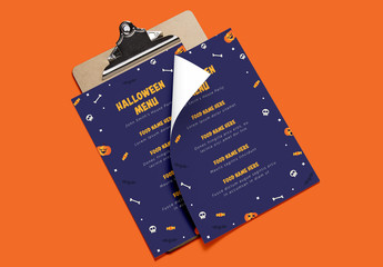 Halloween Menu Layout 1