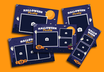 Set of 5 Halloween Party Photo Frames