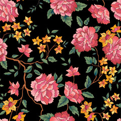 Floral seamless pattern. Oornamental flower background