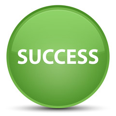 Success special soft green round button