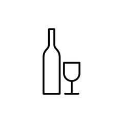 line alcohol icon on white background