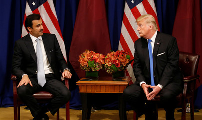 U.S. President Trump meets the Qatar's Emir Sheikh Tamim bin Hamad al-Thani in New York