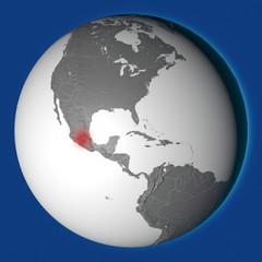 Terremoto sezione terreno, Città del Messico, scossa, sisma. Messico. 3d rendering