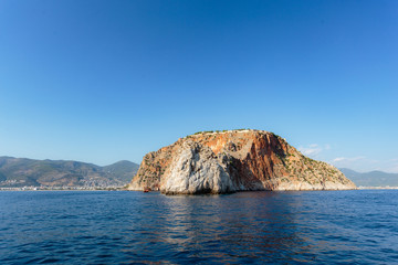 seascape with Alanya's castle rock