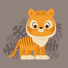 Tiger cub vector illustration