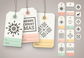 Christmas Gift Tag and Sticker Set 1