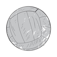 Isolated retro volleyball ball on a white background, Vector illustration