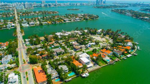 Aerial View Of Venetian Islands Miami Beach South Florida Usa