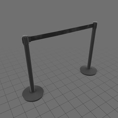 Medium airport stanchions