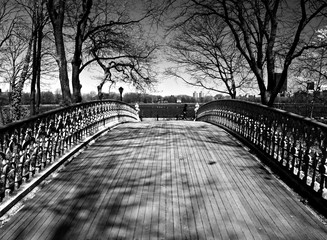 Wooden Bridge in New York City's Central Park