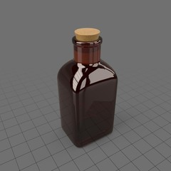 Brown glass medicine bottle