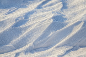 Snowdrifts, a field in winter