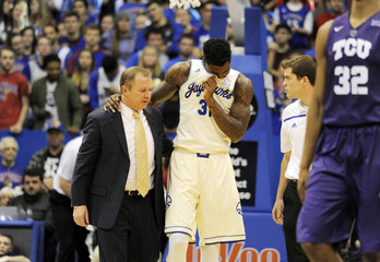 NCAA Basketball: Texas Christian at Kansas