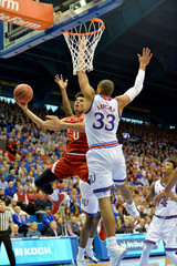 NCAA Basketball: Nebraska at Kansas