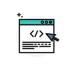 Program coding concept Isolated Line Vector Illustration editable Icon