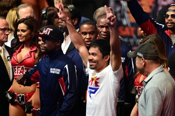 Boxing: Mayweather vs Pacquiao-Weigh Ins