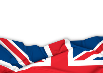 UK, Union Jack, British flag on white background with clipping path. 3D illustration Wall mural